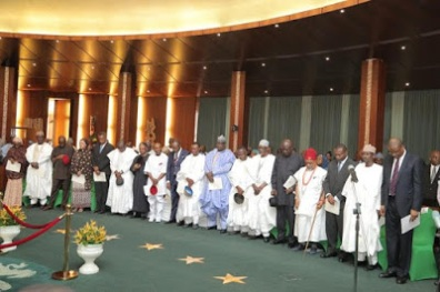 New Ministers being inaugurated by President Buhari
